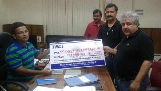 MCL contributes Rs 2 Lakh for Flood Relief in Rayagada & Kalahandi