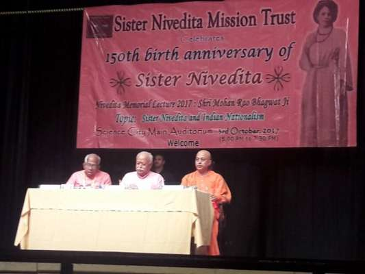 Bhagwat invokes Sister Nivedita to convey 'One People-One Nation