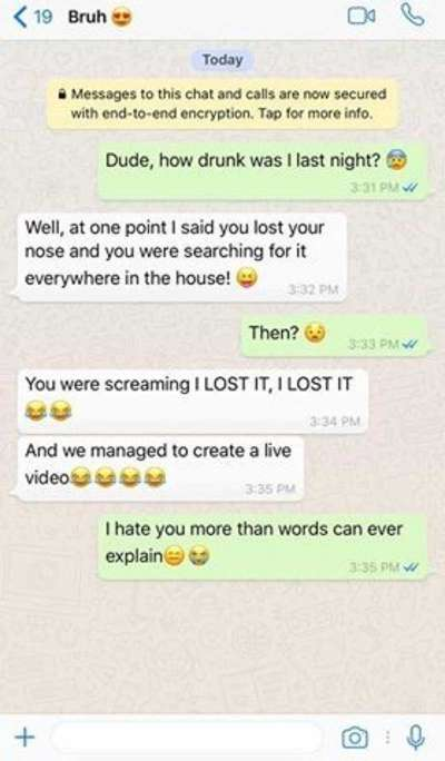 14 Funniest Drunk WhatsApp Conversations That Will Make You LMAO