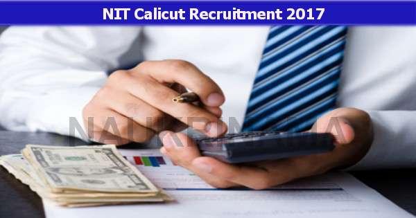 Accountant and Various Job Openings in NIT Calicut - Naukri