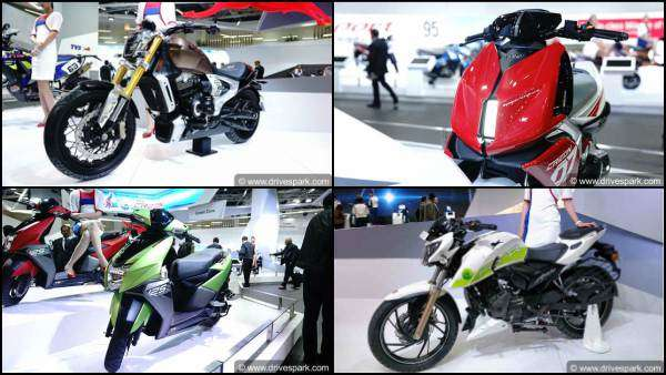 TVS Bikes & Scooters At Auto Expo 2018