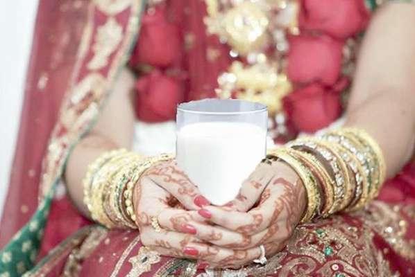 Image result for शादी की पहली रात दूध के गिलास का मतलब