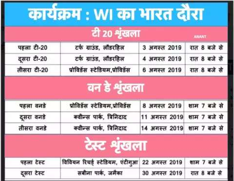 These channels will be broadcast on the match of IND vs WI
