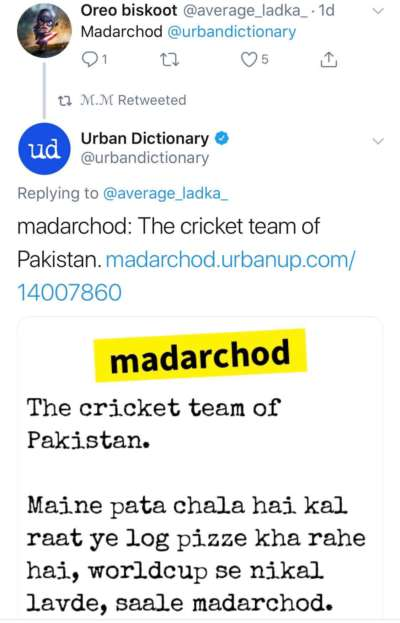 Someone Asked The Meaning Of 'Ma*arc*od'  Urban Dictionary