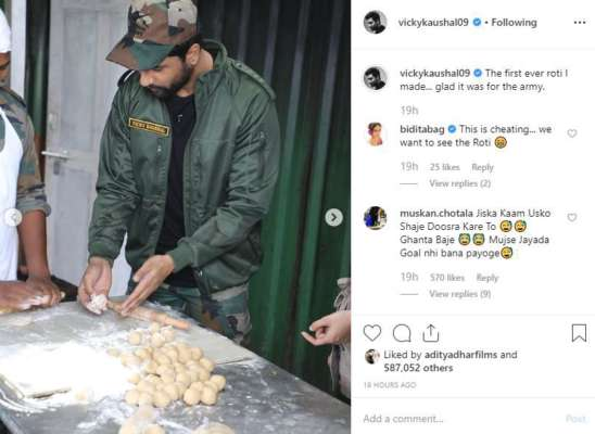 Vicky Kaushal With Army: Actor Becomes 'one Of Them' As They Bond