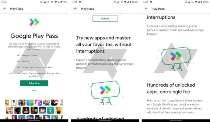 Google testing Play Pass subscription for premium apps and games