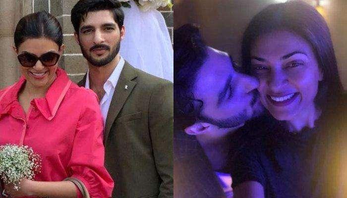Sushmita Sen Shares A Mushy Picture Of Rohman Shawl Kissing Her