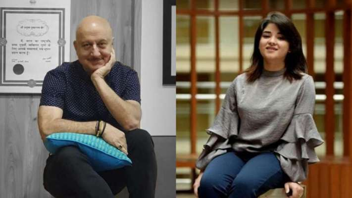 Anupam Kher isn't happy with Zaira Wasim's decision of quitting
