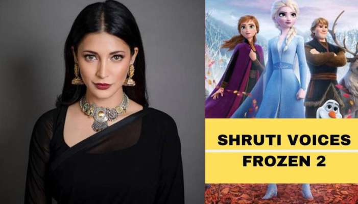 Image result for shruthi hassan dubs and sings for Frozen 2