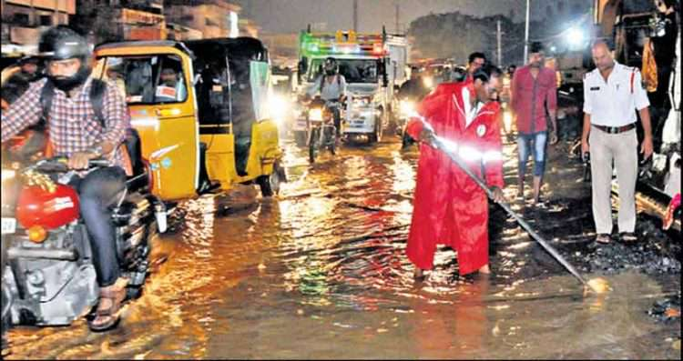 Image result for hyderabad rain yesterday night images