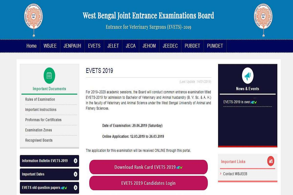 West Bengal EVETS results 2019 declared at wbjeeb nic in   Here's
