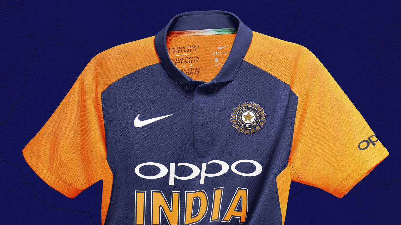 Image result for India to Wear Orange and Blue Jersey vs England