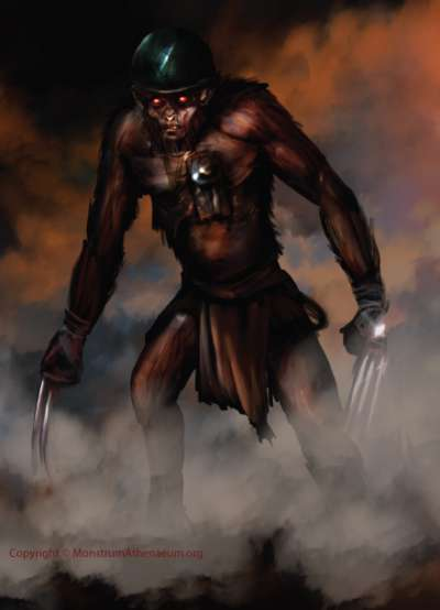 Terrifying killer Monkey man