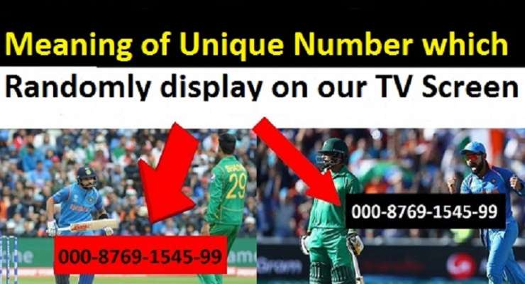 There Is A Reason For Random Number That Appear On Your TV Screen
