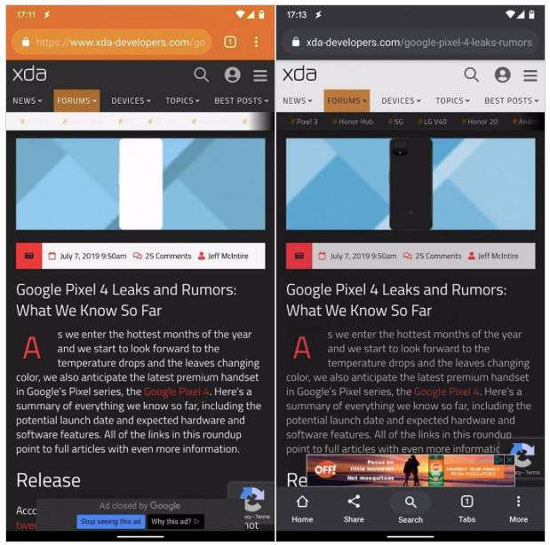 Google Chrome 77 brings improved dark mode to the web - 91mobiles