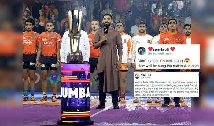 Virat Kohli Sings National Anthem During Mumbai Leg of Pro